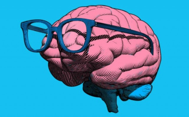 Brain with Eye Glasses