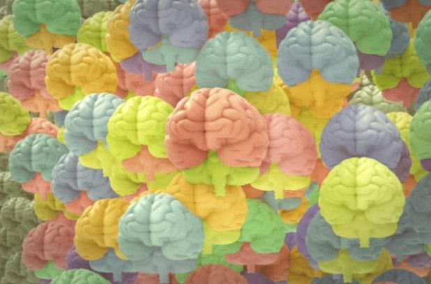 Multi-Colored Brains Collage