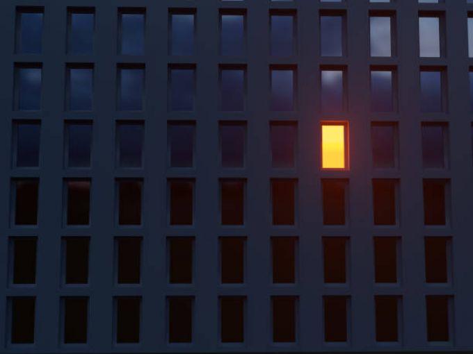 Single Light in Building
